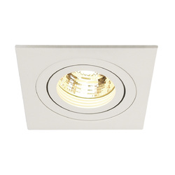 Afbeelding van SLV New tria 1 mr16 square wit 1xgx5,3 wand- of plafondlamp