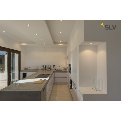 Foto van SLV New tria 68 GU10 square wit 1xGU10 wand- of plafondlamp