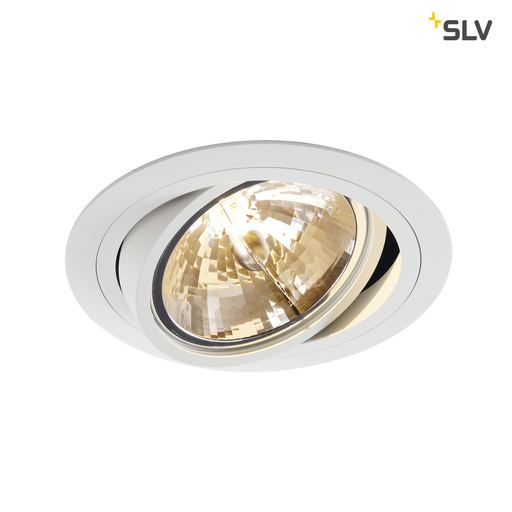 Afbeelding van SLV New tria qrb111 round wit 1xG53 wand- of plafondlamp