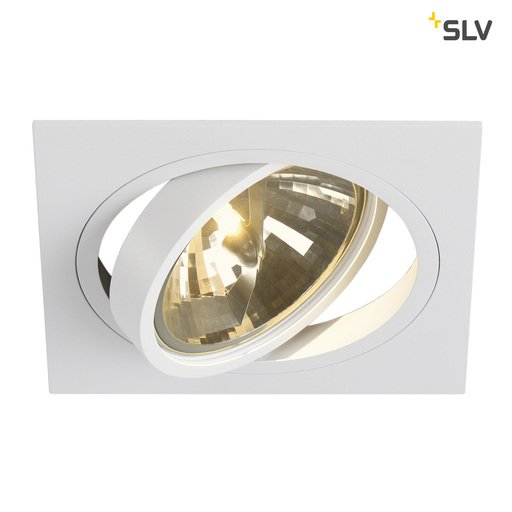Afbeelding van SLV New tria 1 qrb111 square wit 1xG53 wand- of plafondlamp