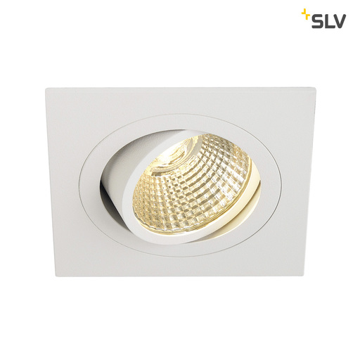 Afbeelding van SLV New tria dl square set wit 1xLED 2700k wand- of plafondlamp
