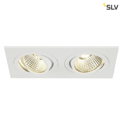 Afbeelding van SLV New tria 2 dl square set wit 2xLED 2700k wand- of plafondlamp
