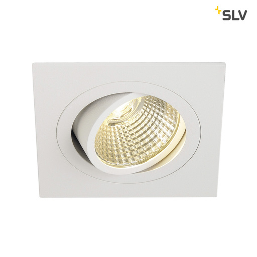 Afbeelding van SLV New tria dl square set wit 1xLED 3000k wand- of plafondlamp