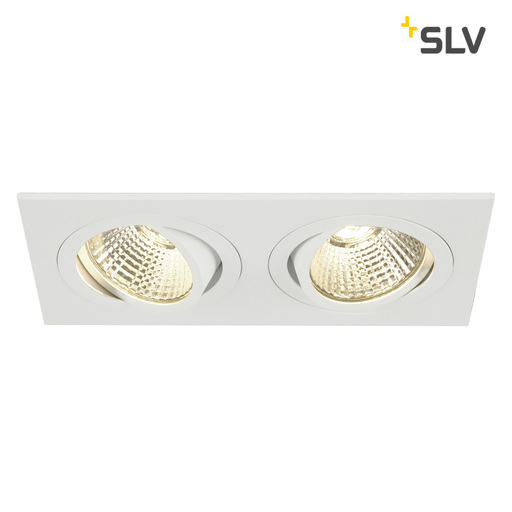 Afbeelding van SLV New tria 2 dl square set wit 2xLED 3000k wand- of plafondlamp