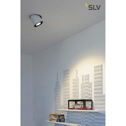 Foto van SLV Supros 3000 move wit 1xLED 3000k wand- of plafondlamp