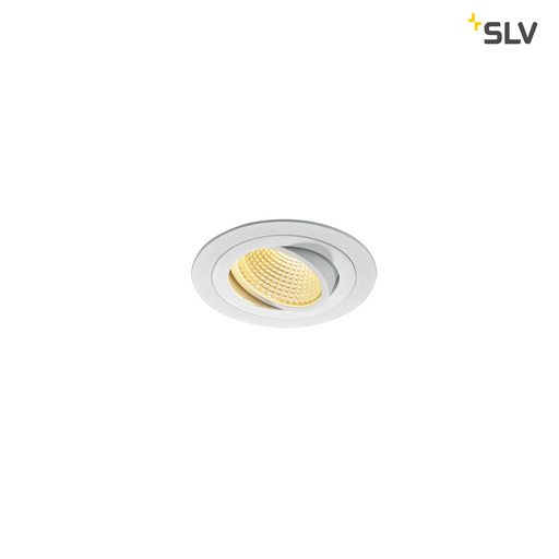 Afbeelding van SLV New tria LED dl round set, wit 1xLED 2700k 12w wand- of plafondlamp