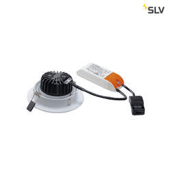 Afbeelding van SLV New tria LED dl round set, wit 1xLED 3000k 12w wand- of plafondlamp