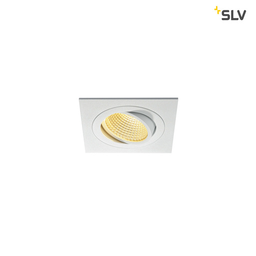 Afbeelding van SLV New tria LED dl square set, wit 1xLED 2700k 12w wand- of plafondlamp
