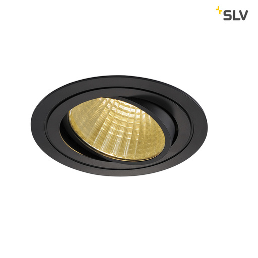 Energielabel van SLV New tria LED dl round set, zwart 1xLED 2700k 25w wand- of plafondlamp