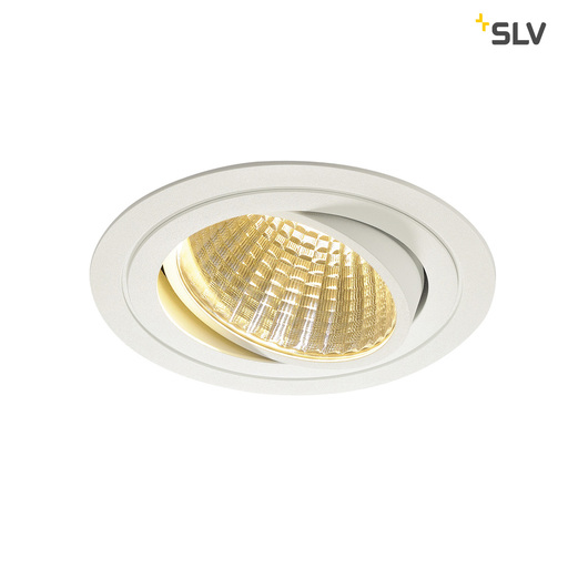 Afbeelding van SLV New tria LED dl round set, wit 1xLED 2700k 25w wand- of plafondlamp