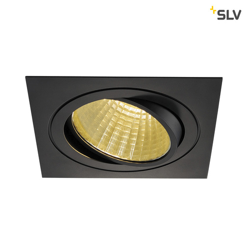 Afbeelding van SLV New tria LED dl square set, zwart 1xLED 2700k 25w wand- of plafondlamp