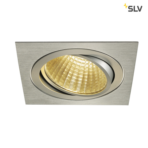 Afbeelding van SLV New tria LED dl square set, alu g. 1xLED 2700k 25w wand- of plafondlamp