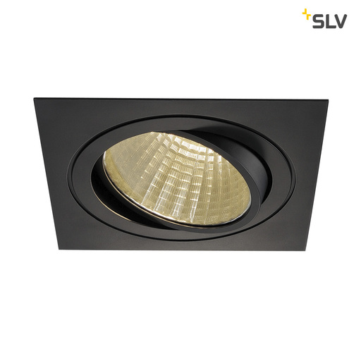 Energielabel van SLV New tria LED dl square set, zwart 1xLED 3000k 25w wand- of plafondlamp