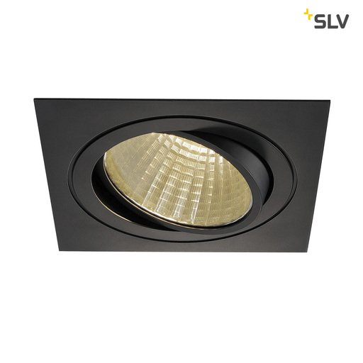 Afbeelding van SLV New tria LED dl square set, zwart 1xLED 3000k 25w wand- of plafondlamp