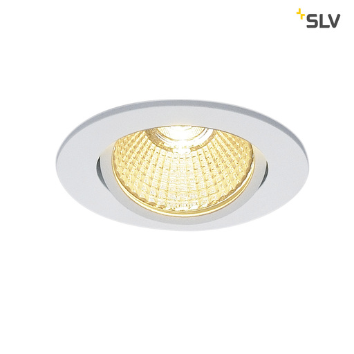 Afbeelding van SLV New tria 68 LED round wit mat 1xLED 3000k wand- of plafondlamp
