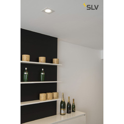 Foto van SLV New tria 68 LED square wit mat 1xLED 3000k wand- of plafondlamp