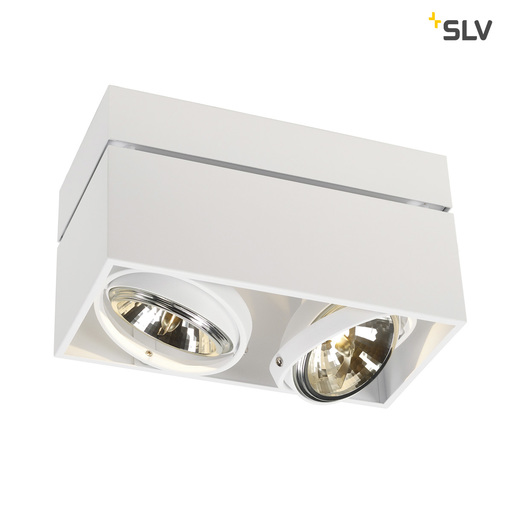 Afbeelding van SLV Kardamod surface square qrb double wit 2xG53 plafondlamp