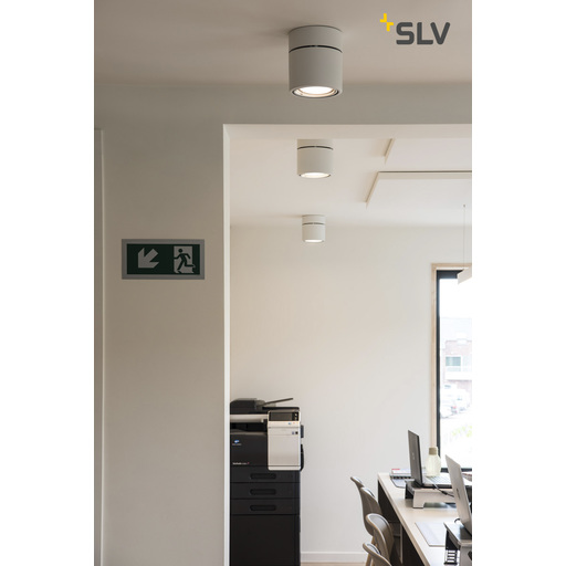 Foto van SLV Kardamod surface round es111 single wit 1xGU10 plafondlamp