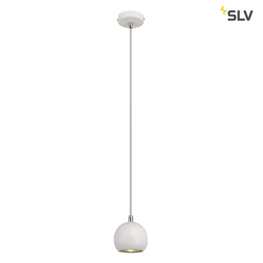 Afbeelding van SLV Light eye ball wit/chroom 1xGU10 hanglamp