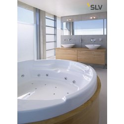 Foto van SLV Mibo wall up-down chroom/glas gesatineerd 2xG9 wandlamp