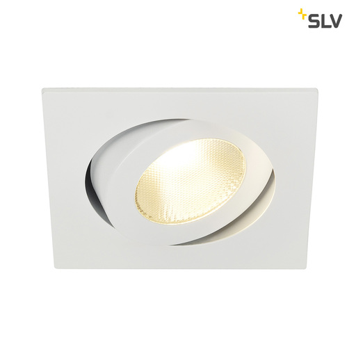 Afbeelding van SLV Contone square kantelb. wit 1xLED 3000k-2000k wand- of plafondlamp