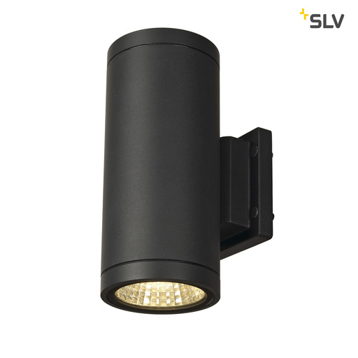 Afbeelding van SLV Enola-c out up-down antraciet 2xLED 3000k wandlamp