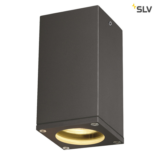 Afbeelding van SLV Theo ceiling out antraciet 1xGU10 plafondlamp