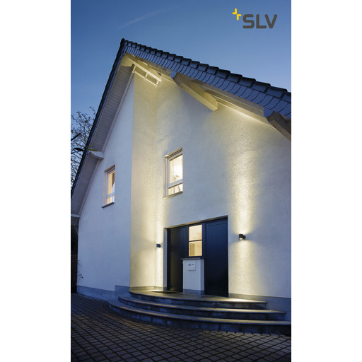 Foto van SLV Sitra wall up-down antraciet 2xGX53 wandlamp