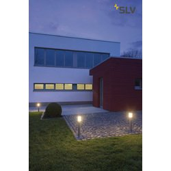 Foto van SLV Big nails plus 50 edelstaal 1xE27 staande lamp