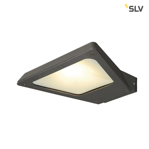 Afbeelding van SLV Trapecco wall down antraciet 1xLED 3000k wandlamp