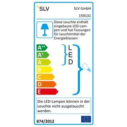 Energielabel van SLV Aixlight r2 office LED wit LED, 2xes111 hanglamp