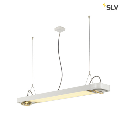 Afbeelding van SLV Aixlight r2 office LED wit LED, 2xes111 hanglamp