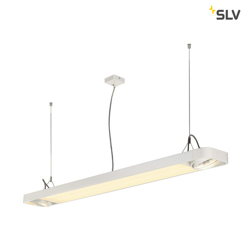 Afbeelding van SLV Aixlight r2 office LED long wit LED, 2xes111 hanglamp