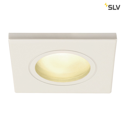 Afbeelding van SLV Dolix out GU10 square wit 1xGU10 wand- of plafondlamp