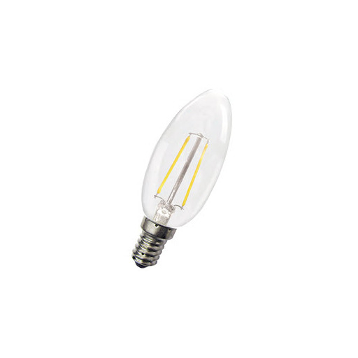 Afbeelding van Bailey Led filament c35 e14 240v 1.8w 2700k clear LED-lamp
