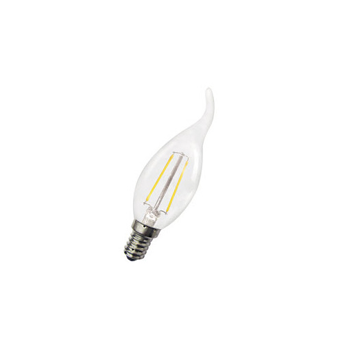Afbeelding van Bailey Led filament c35 cosy e14 240v 1.8w 2700k clear LED-lamp