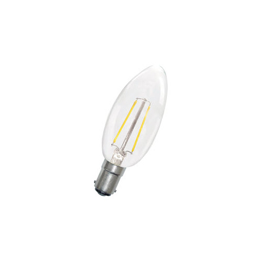 Afbeelding van Bailey Led filament c35 ba15d 240v 1.8w 2700k clear LED-lamp