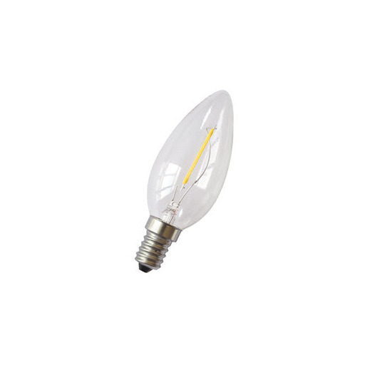 Afbeelding van Bailey Led filament c35 e14 240v 1w 2700k clear LED-lamp