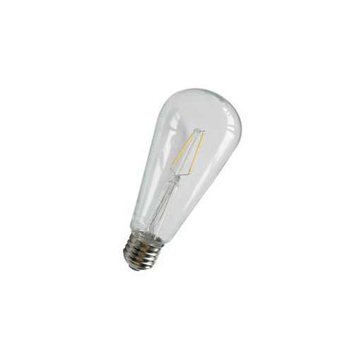 Afbeelding van Bailey Led filament st64 e27 240v 2w 2700k clear LED-lamp