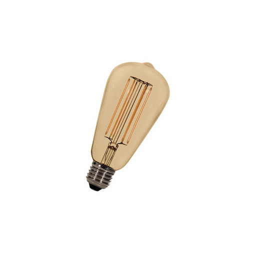 Afbeelding van Bailey Led long filament st64 e27 240v 5.8w 2200k gold dimm LED-lamp