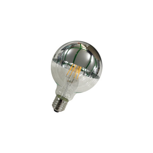Afbeelding van Bailey Led filament g95 e27 240v 5w 2700k tm silver LED-lamp