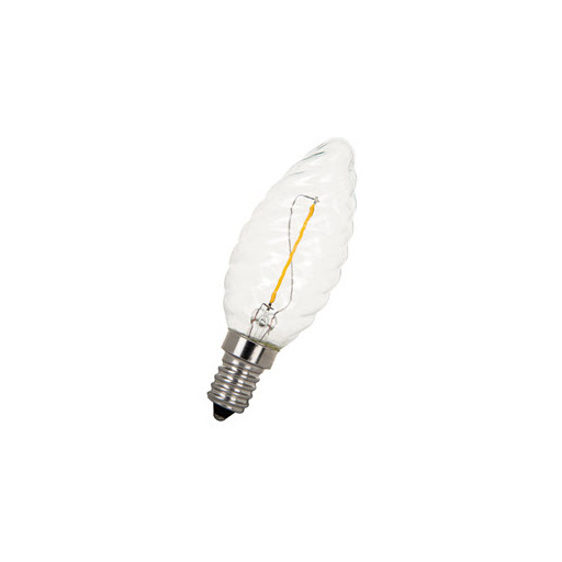 Afbeelding van Bailey Led filament c35 twisted e14 240v 1w 2200k clear LED-lamp