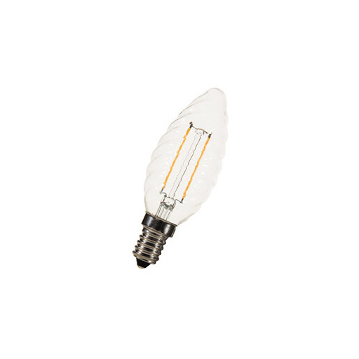 Afbeelding van Bailey Led filament c35 twisted e14 240v 2w 2200k clear LED-lamp