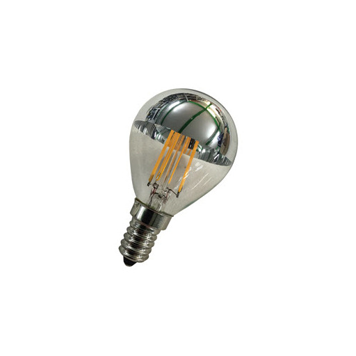 Afbeelding van Bailey Led filament g45 e14 240v 2w 2700k tm silver LED-lamp