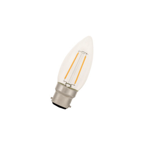 Afbeelding van Bailey Led filament c35 b22d 240v 2w 2700k clear LED-lamp